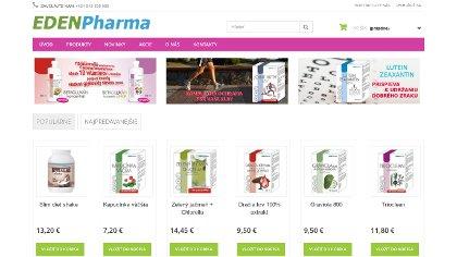 Náhľad na www stránku edenpharma.sk