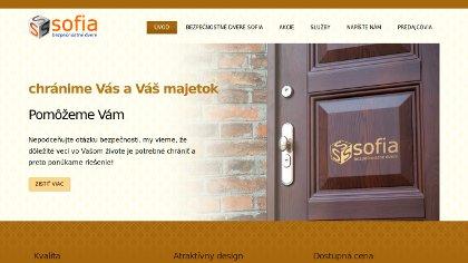 Náhľad na www stránku bezpecnostnedveresofia.sk