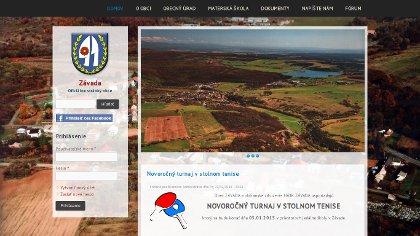 Náhľad na www stránku obeczavada.sk